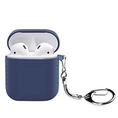 Custodia in Silicone con Moschettone per AirPods Custodia di Ricarica Z04 Blu