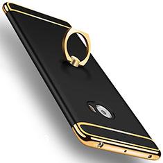 Custodia Lusso Alluminio con Anello Supporto per Xiaomi Mi Note 2 Nero