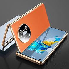 Custodia Lusso Alluminio Cover 360 Gradi K01 per Huawei Mate 40 Arancione