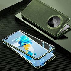 Custodia Lusso Alluminio Cover 360 Gradi K01 per Huawei Mate 40 Pro Arancione