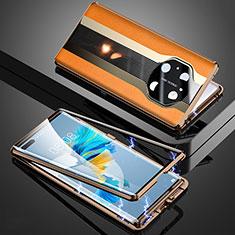 Custodia Lusso Alluminio Cover 360 Gradi K03 per Huawei Mate 40 Pro Arancione