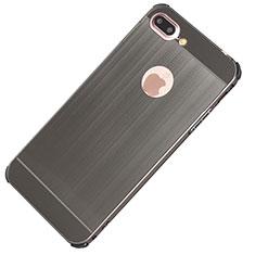Custodia Lusso Alluminio Cover M01 per Apple iPhone 8 Plus Grigio Scuro