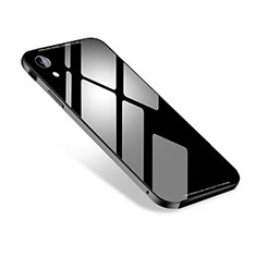Custodia Lusso Alluminio Cover M01 per Apple iPhone XR Nero