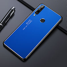 Custodia Lusso Alluminio Cover M01 per Huawei Enjoy 10 Plus Blu