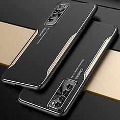 Custodia Lusso Alluminio Cover M01 per Huawei Nova 7 5G Oro