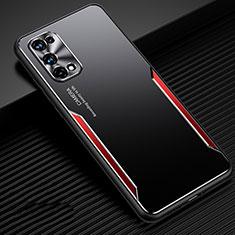Custodia Lusso Alluminio Cover M01 per Realme X7 Pro 5G Rosso
