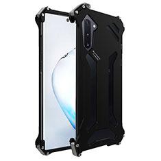 Custodia Lusso Alluminio Cover M01 per Samsung Galaxy Note 10 Nero
