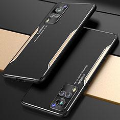 Custodia Lusso Alluminio Cover M01 per Vivo X60 5G Oro