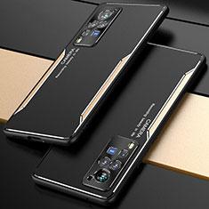 Custodia Lusso Alluminio Cover M01 per Vivo X60 Pro 5G Oro