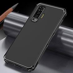 Custodia Lusso Alluminio Cover M03 per Vivo X50 5G Nero