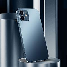 Custodia Lusso Alluminio Cover N01 per Apple iPhone 12 Blu