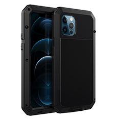 Custodia Lusso Alluminio Cover N01 per Apple iPhone 12 Pro Max Nero