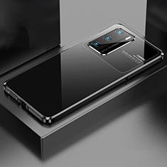 Custodia Lusso Alluminio Cover N01 per Huawei P40 Nero