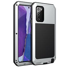 Custodia Lusso Alluminio Cover N01 per Samsung Galaxy Note 20 5G Argento