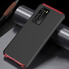 Custodia Lusso Alluminio Cover N02 per Huawei P40 Pro Rosso e Nero