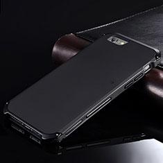 Custodia Lusso Alluminio Cover per Apple iPhone 6S Plus Nero