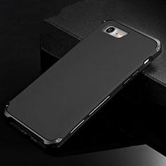 Custodia Lusso Alluminio Cover per Apple iPhone 8 Nero