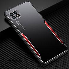 Custodia Lusso Alluminio Cover per Huawei Enjoy 20 5G Rosso