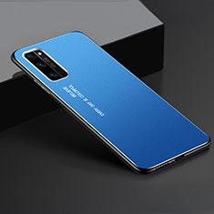 Custodia Lusso Alluminio Cover per Huawei Honor 30 Pro+ Plus Blu