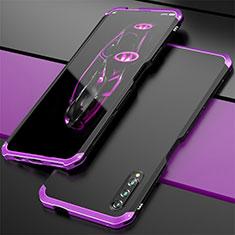 Custodia Lusso Alluminio Cover per Huawei Honor 9X Pro Viola