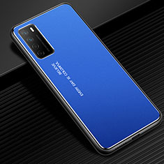 Custodia Lusso Alluminio Cover per Huawei Honor Play4 5G Blu