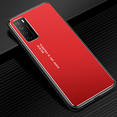 Custodia Lusso Alluminio Cover per Huawei Honor Play4 5G Rosso