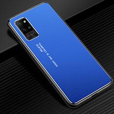 Custodia Lusso Alluminio Cover per Huawei Honor Play4 Pro 5G Blu