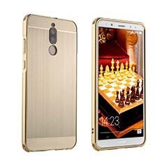 Custodia Lusso Alluminio Cover per Huawei Mate 10 Lite Oro