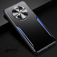 Custodia Lusso Alluminio Cover per Huawei Mate 40 Blu