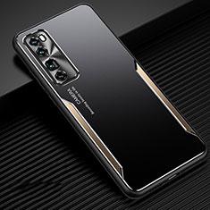 Custodia Lusso Alluminio Cover per Huawei Nova 7 Pro 5G Oro