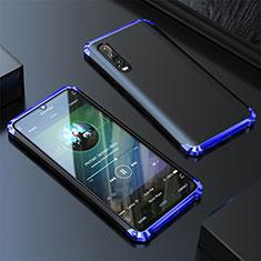 Custodia Lusso Alluminio Cover per Huawei P20 Pro Blu
