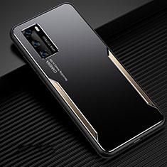 Custodia Lusso Alluminio Cover per Huawei P40 Oro