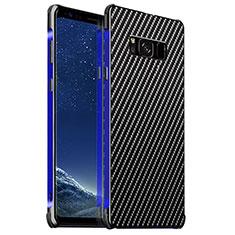 Custodia Lusso Alluminio Cover per Samsung Galaxy S8 Plus Blu