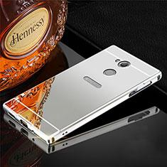Custodia Lusso Alluminio Cover per Sony Xperia XA2 Plus Argento