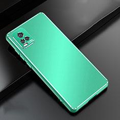 Custodia Lusso Alluminio Cover per Vivo V20 Pro 5G Verde