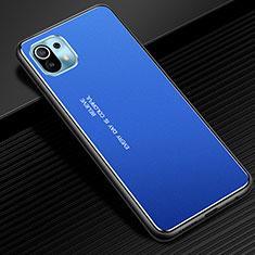 Custodia Lusso Alluminio Cover per Xiaomi Mi 11 5G Blu