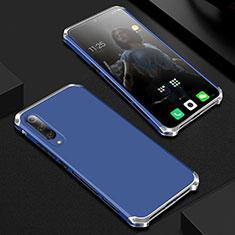 Custodia Lusso Alluminio Cover per Xiaomi Mi A3 Lite Blu