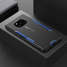 Custodia Lusso Alluminio Cover per Xiaomi Poco X3 NFC Blu