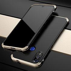 Custodia Lusso Alluminio Cover per Xiaomi Redmi Note 7 Oro e Nero