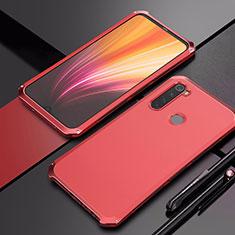 Custodia Lusso Alluminio Cover per Xiaomi Redmi Note 8 Rosso