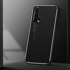 Custodia Lusso Alluminio Cover T01 per Huawei Honor 20 Pro Nero