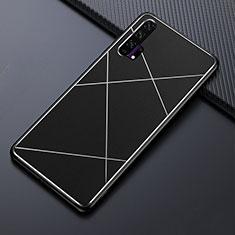 Custodia Lusso Alluminio Cover T03 per Huawei Honor 20 Pro Nero