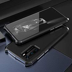Custodia Lusso Alluminio Cover T03 per Huawei P40 Nero