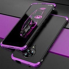 Custodia Lusso Alluminio Cover T03 per Xiaomi Poco F2 Pro Viola