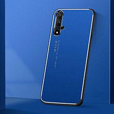 Custodia Lusso Alluminio Cover T04 per Huawei Honor 20 Blu