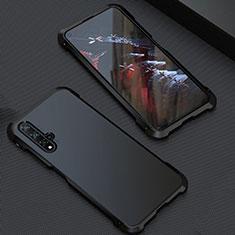 Custodia Lusso Alluminio Cover T05 per Huawei Honor 20 Nero