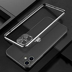 Custodia Lusso Alluminio Laterale Cover N01 per Apple iPhone 12 Nero