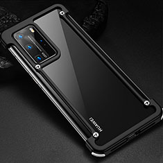 Custodia Lusso Alluminio Laterale Cover N01 per Huawei P40 Pro Nero