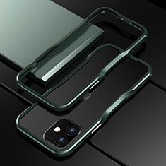 Custodia Lusso Alluminio Laterale Cover N02 per Apple iPhone 12 Mini Verde Notte