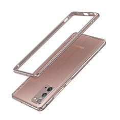 Custodia Lusso Alluminio Laterale Cover N03 per Samsung Galaxy Note 20 5G Bronze